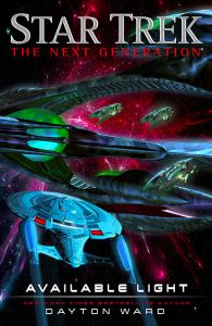 """bookcoverinset 195x300 """"Star Trek: The Next Generation: Available Light"""" Review by TrekToday"""