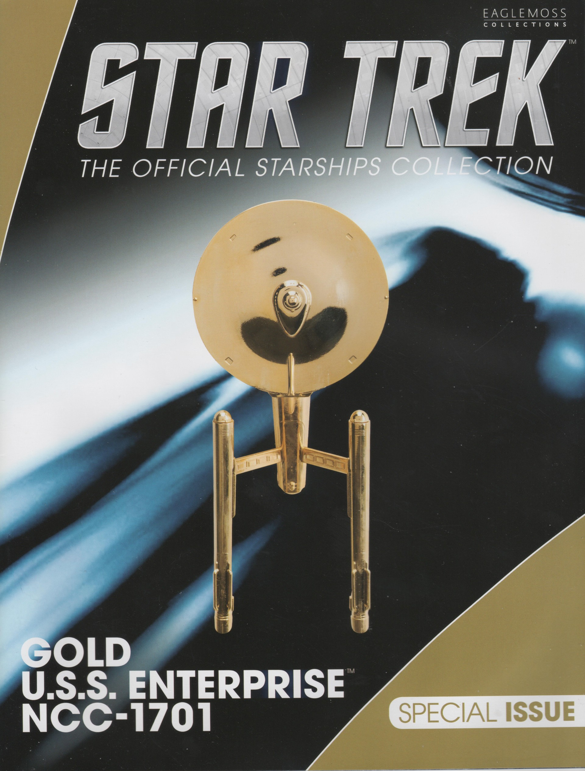 Star Trek The Official Starships Collection Special #23 U.S.S. Enterprise NCC-1701 Gold Model Starship