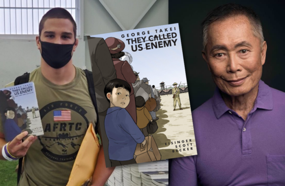 """U.S. Air Force Academy distributes George Takei's They Called Us Enemy to cadets as part of """"One Book. One USAFA."""" program"""